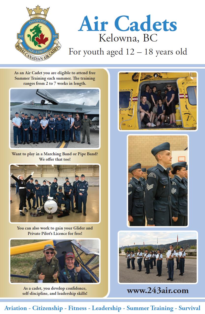 Air Cadets - Kelowna Registration Logo